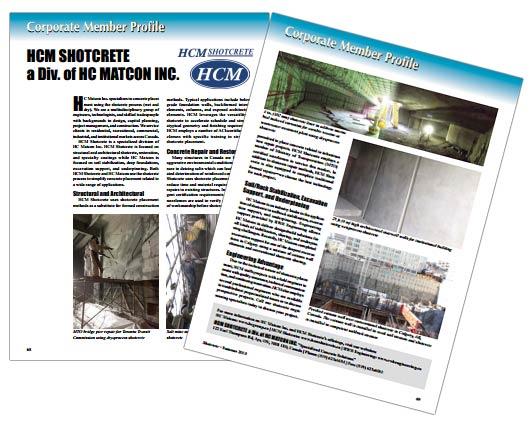 HCM Shotcrete Profile- Shotcrete Magazine