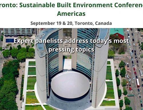 RWH Engineering Inc. sponsors SBE16Toronto Green Building Festival