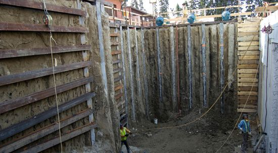 Currie Reservoir - Continuous Caisson Wall
