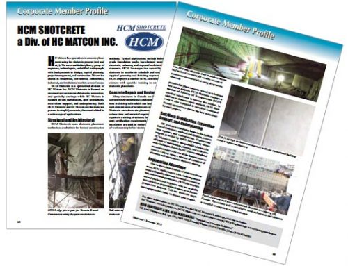 HCM Shotcrete Profile– Shotcrete Magazine